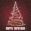 Royalty-Free Stock Imagen vectorial: Shiny star pattern xmas tree