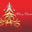 Royalty-Free Stock ベクターイメージ: Christmas tree with red background