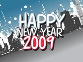 Wallpaper, year 2009 series — Stock Vector