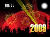 обои, фон 2009 год — Cтоковый вектор