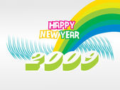 Wallpaper, year 2009 — Stock Vector