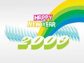 Wallpaper, year 2009 — Stock Vector
