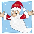 Background with flying santa claus — Stock Photo