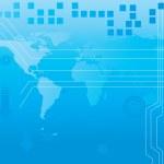 Всемирная карта технологии style5 — Cтоковый вектор