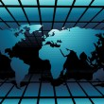 mondo mappa tecnologia style3 — Vettoriale Stock