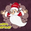 Royalty-Free Stock ベクターイメージ: Background with flying santa claus
