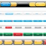 Web 2.0 style menu button — Stock Vector #2838449
