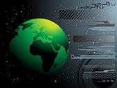 Världen karta teknik stil — Stockvektor