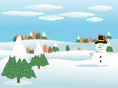 Winter background, illustration — Stock Vector