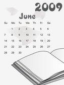 Kalendarz na rok 2009 z książki pamiętać — Wektor stockowy