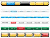 Web 2.0 style menu button — Stock Vector