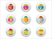 Background with easter day buttons — Stock Vector