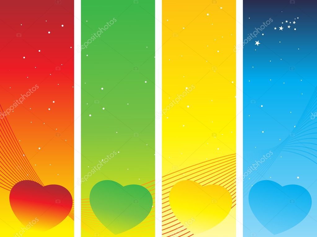 Wavy background with hearts illustration  Stock Vector #2839049