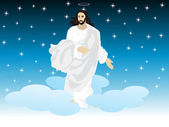 Background with jesus — Stock Vector