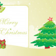 Gretting card for christmas day — Imagen vectorial