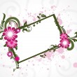 Royalty-Free Stock 矢量图片: Grungy floral frame illustration