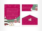 Vector postcard, letterhead and envelop — Stock Vector