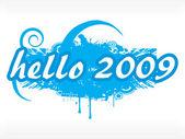 Wallpaper, year 2009 series, design27 — Stock Vector