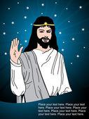 Ilustración de la tarjeta de viernes santo — Vector de stock