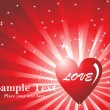 Romantic valentine card - Image vectorielle