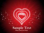 赤いハート バレンタイン カード — ストックベクタ
