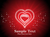 červené srdce valentine karta — Stock vektor