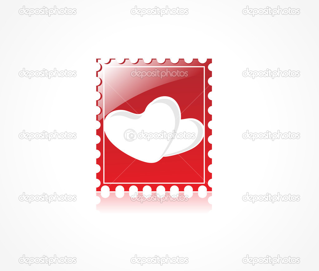 Logo of bright heart on red gradient background, illustration — Stock Vector #2876364
