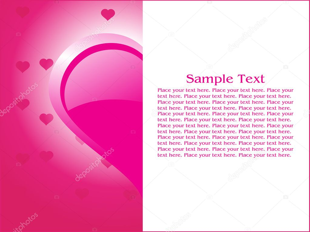 Abstract valentine card illustration  Vettoriali Stock  #2876399