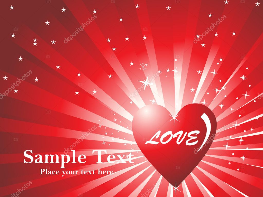 Shiny background with valentine star   Stock Vector #2876402