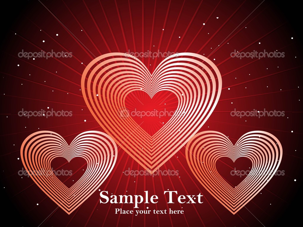 Red retro love background  — Vettoriali Stock  #2876404