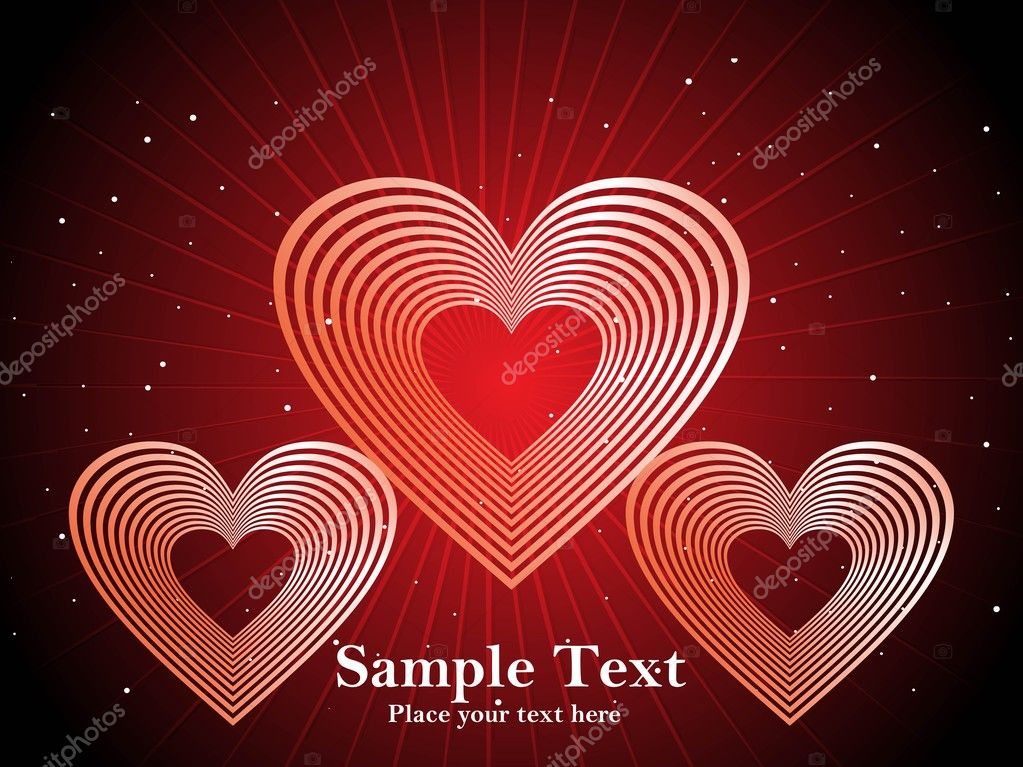 Red retro love background   Image vectorielle #2876404