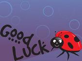 Lady bug vector illustration — Stock Vector