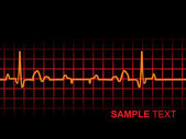 Lifeline in an electrocardiogram — Stock Vector