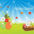 Illustration of easter wallpaper — Stock Photo