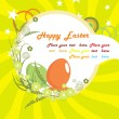 Funky artwork background for easter day — Stock Vector