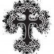 Isolated grungy black cross — Stockvector #2897950
