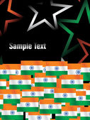 Indian independence day stars and flag — Stock Vector