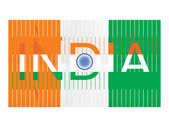 Indian national flag with background — Stock Vector