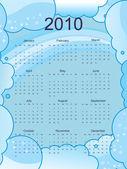 Calendario per il 2010 — Vettoriale Stock