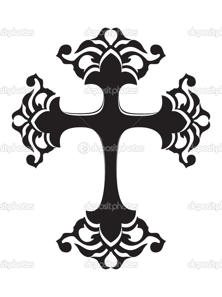 Abstract white background with isolated black cross  Image vectorielle #2898512