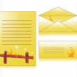 Yellow easter day envelop, postcard — Stock Vector #2905049