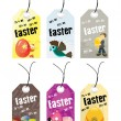 Abstract set of easter day tag — Stock Vector