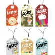 Vector illustration of easter day tag — Stock Vector