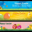 Easter day banner illustration — Stock Vector