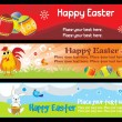 Beautiful easter day banner illustration - Stock Vector