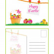 Happy easter post card — Stock Vector