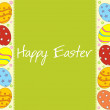 Greeting card for easter day — Imagen vectorial