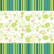 Green background with artwork - Stock Vector
