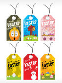 Beautiful pattern set of easter day tag — Vector de stock