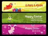 Happy easter day banner illustration — Stock Vector
